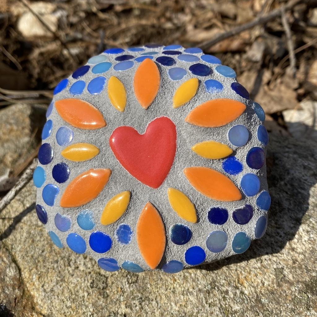 Butterfly Rock Kit Tiny Tile Mosaics