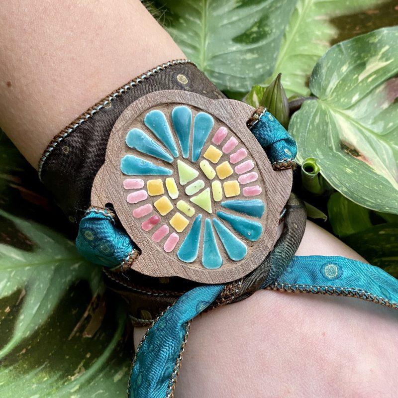 Moroccan Wrap Bracelet Tiny Tile Mosaics