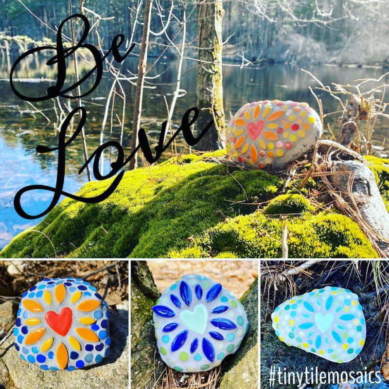 Be Love Mosaic Love Rocks Tiny Tile Mosaics